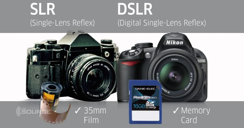 comparison of DSLR and SLR