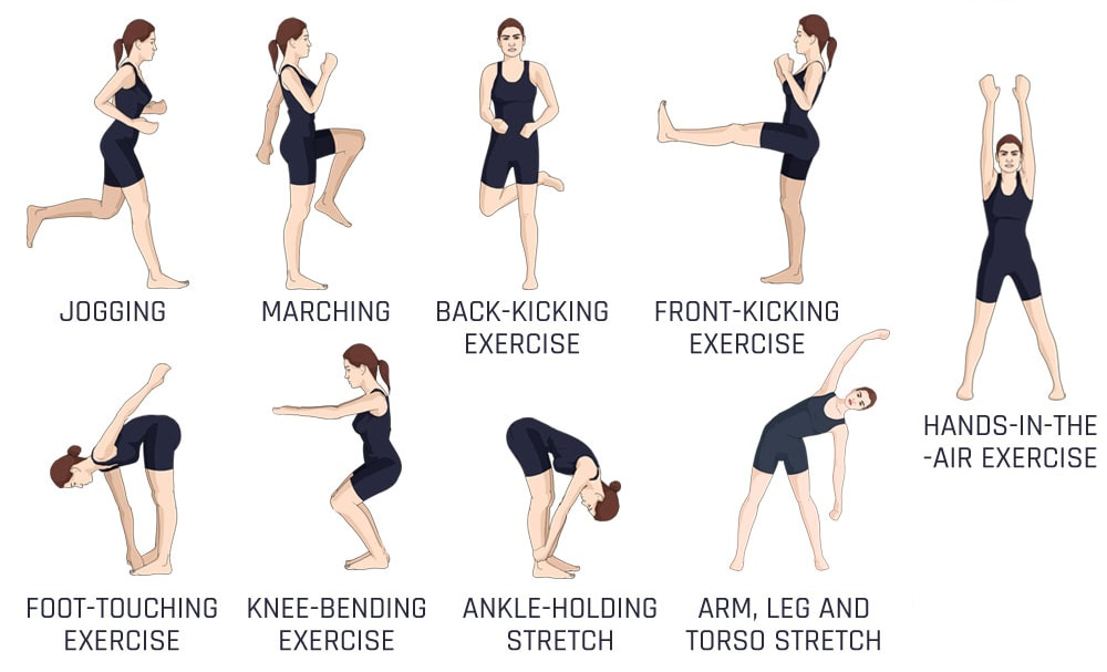 Warm up exercises